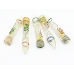 Assorted O/S Spiral Tobacco One Hitter Hand Pipe Wholesale