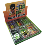 Square Leaf Design Glass Ashtrays Wholesale​