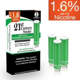 21st Century Smoke Electronic Cigarette Menthol Cartridges 3ct