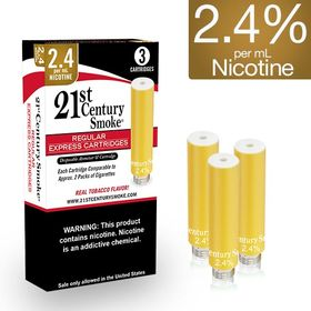 2.4% Nicotine - 21st Century Smoke Electronic Cigarette Regular Cartridges 6ct